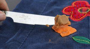 Арахисовое масло от жвачки с одежды
