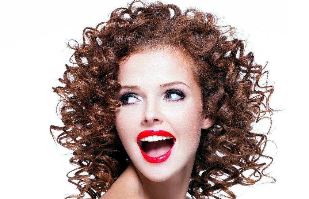 Химическая завивка волос на средние тонкие
