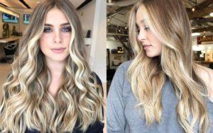 окрашивание балаяж на светлых волосах