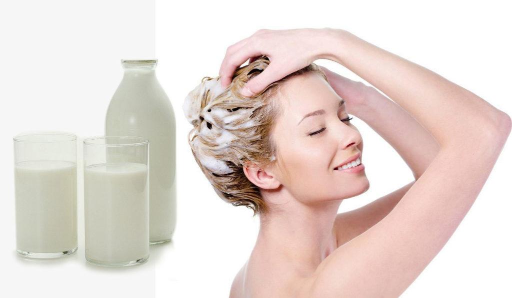 маска для волос на молоке