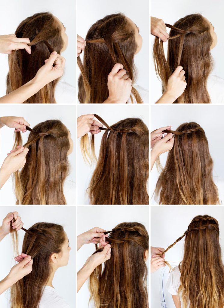прическа переплетение кос