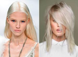 платиновый блонд на длинные волосы фото