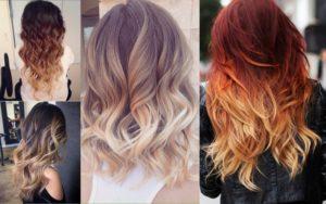 окрашивание волос деграде