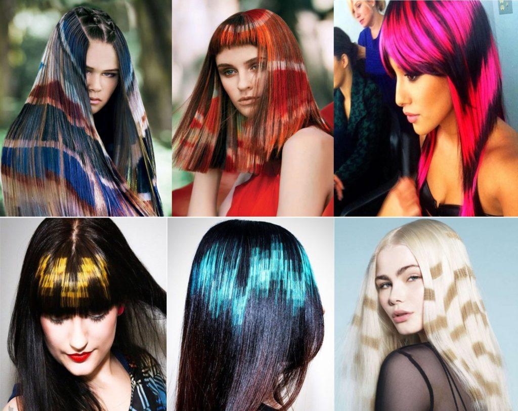 окрашивание волос трафаретным способом